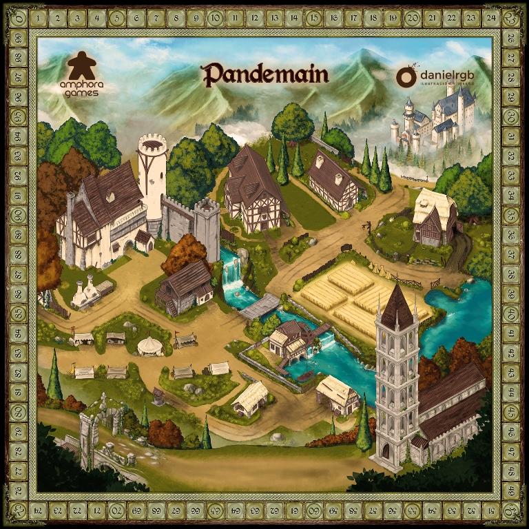 Tablero Pandemain Amphora Games