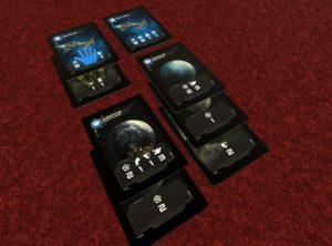 Penturus: Duel, cartas de juego