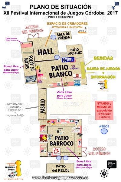 Plano de situación festival córdoba