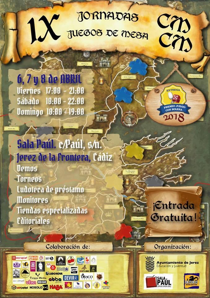 Cartel jornadas CMCM Jerez juegos mesa